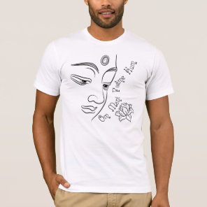 Lotus flower Om Mani Padme Hum Black T-Shirt