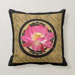 Lotus Flower Om Pillow