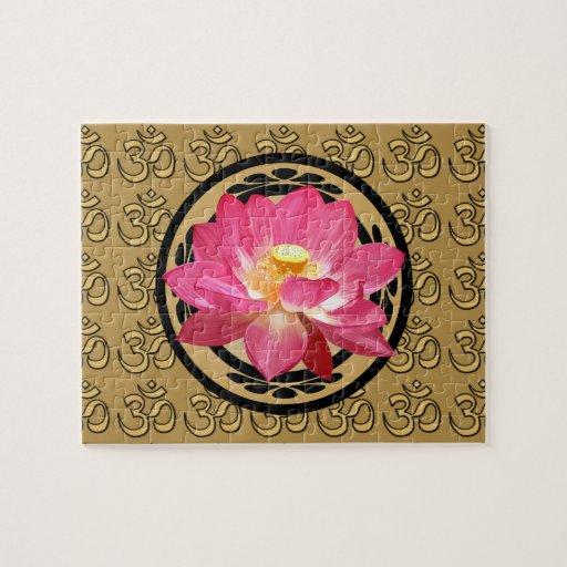 Lotus Flower Om Puzzle