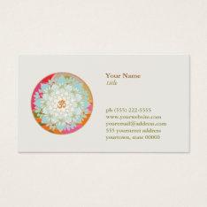 Lotus Flower Om Symbol Yoga Meditation Teacher Business Card at Zazzle