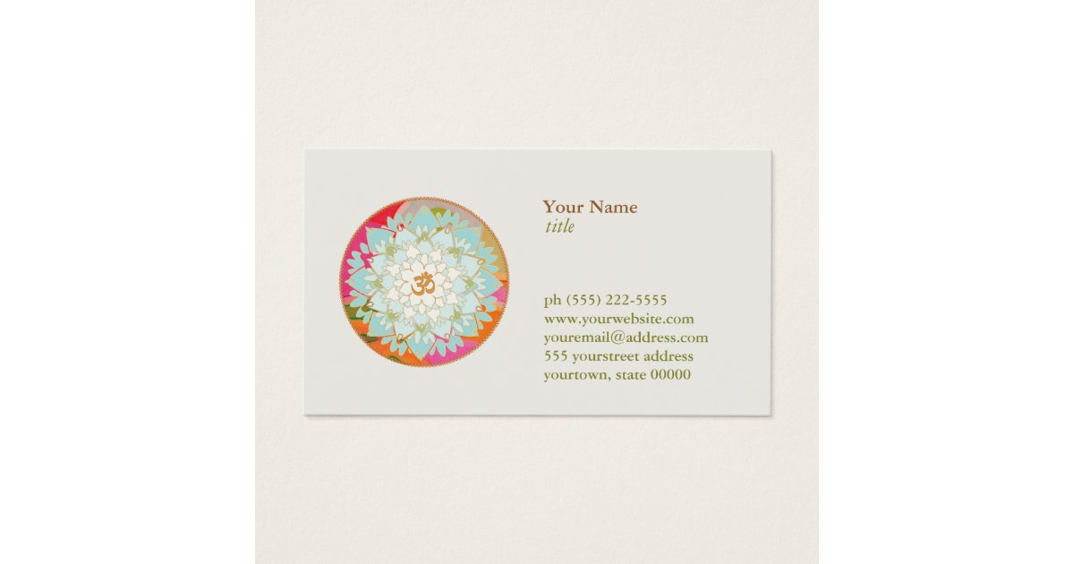 Yoga Teacher Business Cards & Templates | Zazzle
