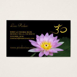 Lotus flower, Om yoga, healers Business Card