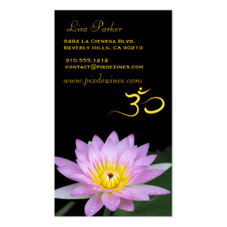 Lotus flower, Om yoga, healers Double-Sided Standard Business Cards (Pack Of 100)