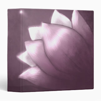 Lotus flower on purple background 3 ring binder