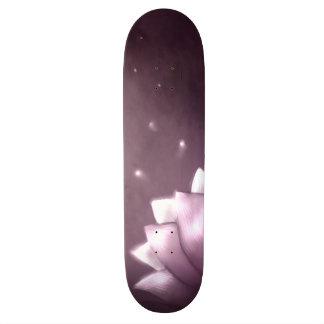 Lotus flower on purple background skateboard deck