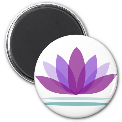 Lotus Flower on Water Fridge Magnet