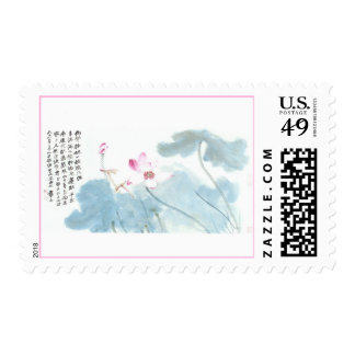 Lotus Flower Painting Stamps