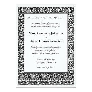 Lotus Flower Parents of the Bride 5x7 Paper Invitation Card
