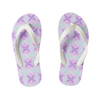 Lotus Flower Pattern Kid's Flip Flops