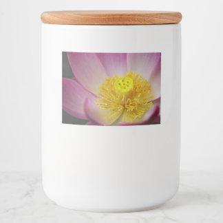 lotus flower petals food label
