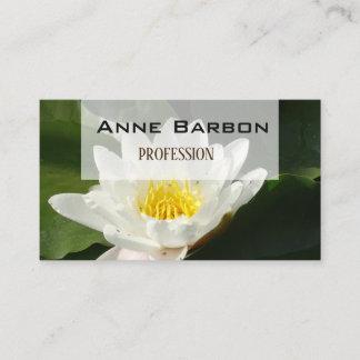 Lotus Flower Photo  Business Card