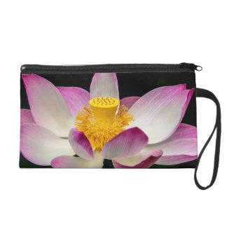 Lotus Flower Photography Great Yoga Om Gift! Wristlet Purses