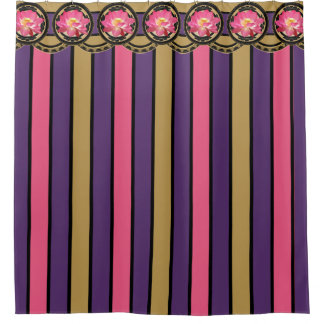 Lotus Flower Pink and Purple Shower Curtain 001