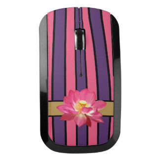 Lotus Flower Pink and Purple Wireless Mouse