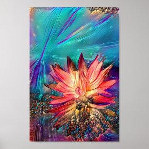 Paint Lotus Flower Posters Photo Prints Zazzle