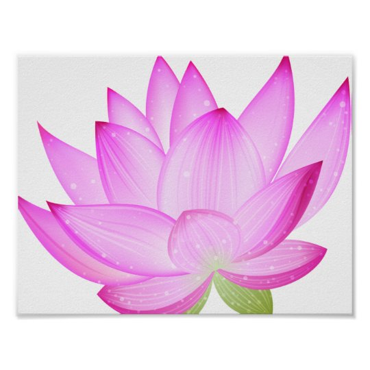 Lotus Flower Poster Zazzle
