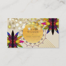 Lotus Flower Rainbow Decorative Yoga Holistic Business Card