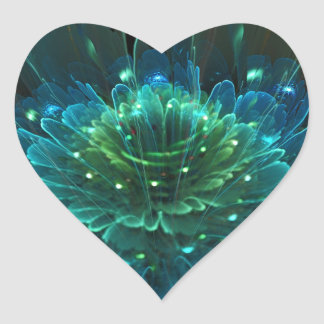 Lotus Flower Rapture Collection Heart Sticker