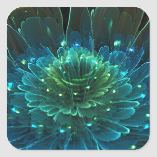 Lotus Flower Rapture Collection Square Sticker