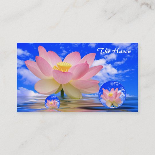 Lotus Flower Reflections Bubbles Of Peace Business Card Zazzle