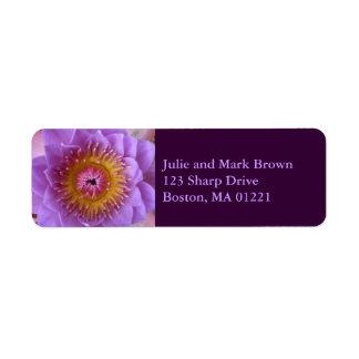 Lotus Flower Return Address Label