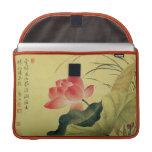 Lotus Flower Rickshaw Flap Sleeve MacBook Pro Sleeves