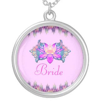 Lotus Flower Round Pendant Necklace