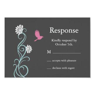 Lotus Flower RSVP (gray) 3.5x5 Paper Invitation Card