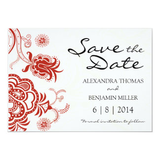 Lotus Flower Save the Date Invite