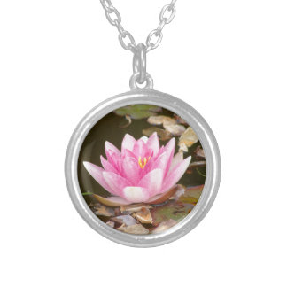 Lotus Flower Silver Plated Necklace