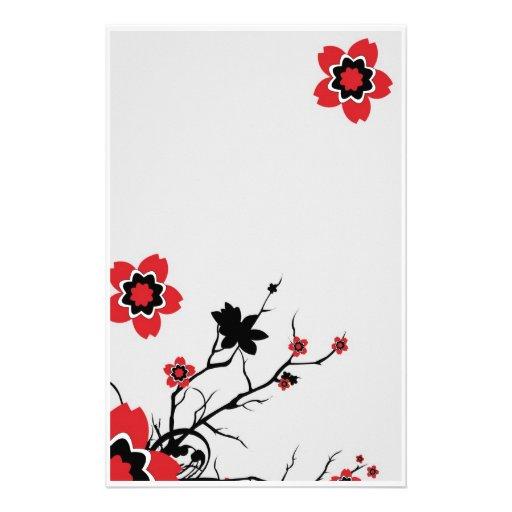 Lotus Flower Stationary Stationery Zazzle