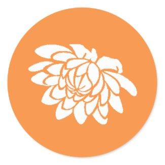 Lotus Flower Sticker (bright orange)