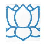 Lotus Flower Symbol Notepad