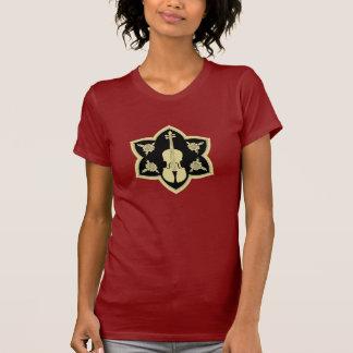Lotus Flower Violin T-Shirt Design
