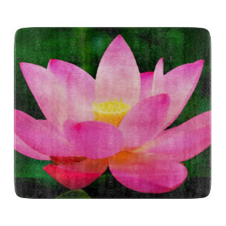 Lotus Flower Vivid Watercolor Cutting Board