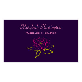 Lotus Flower / Water Lily Illustration Business Card