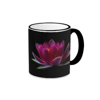 Lotus Flower Water Plant Ringer Coffee Mug