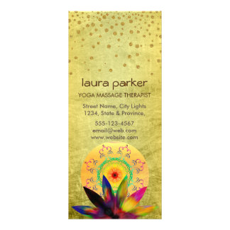 Lotus Flower Watercolor Healing Holistic Health Rack Card
