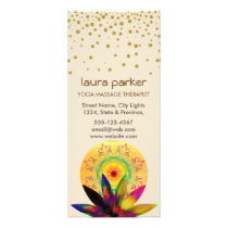 Lotus Flower Watercolor Healing Holistic Health Rack Card