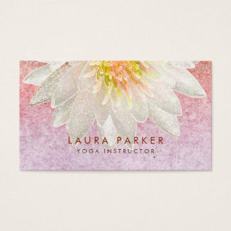 Lotus Flower Watercolor Healing Meditation Yoga Business Card