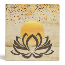 Lotus Flower Watercolor Wedding Bride Binder
