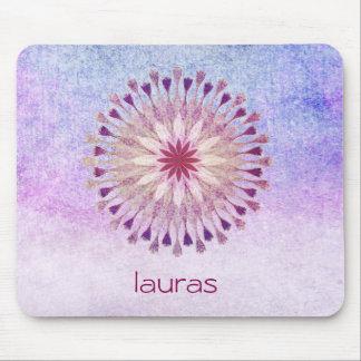 Lotus Flower Watercolor Yoga Meditation Mouse Pad