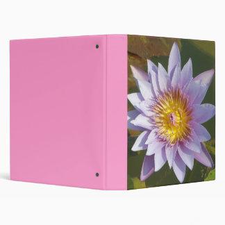 Lotus Flower/Waterlily 3 Ring Binder