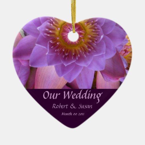 lotus flower wedding favor christmas ornaments zazzle