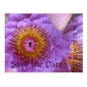 Lotus Flower Wedding Save the Date Postcard