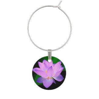 Lotus Flower Wine Glass Charm