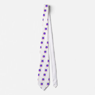 Lotus Flower With Yoga Positions Tie