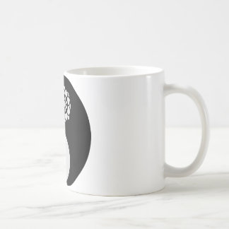 Lotus Flower Yin Yang Coffee Mug