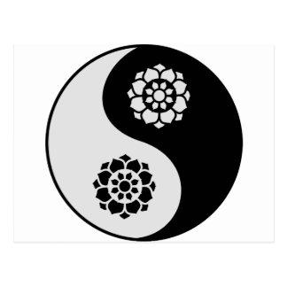 Lotus Flower Yin Yang Postcard