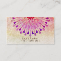 Lotus Flower Yoga Instructor Meditation Holistic Business Card